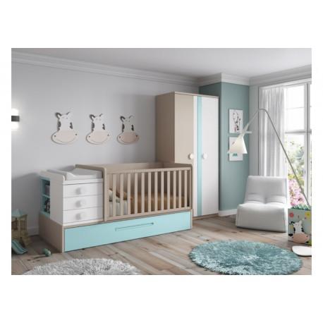 Dormitorio Infantil Convertible Smile 105