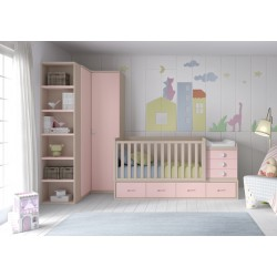 Dormitorio Infantil Convertible Smile 110