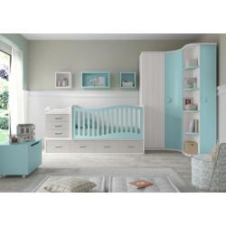 Dormitorio Infantil Convertible Smile 111