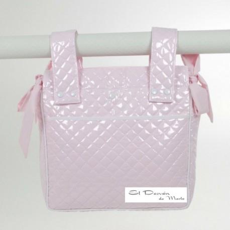 Bolsa Panera Plástico Guateado Rosa