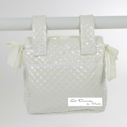 Bolsa Panera Plástico Guateado Beige