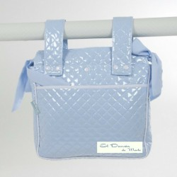 Bolsa Panera Plástico Guateado Azul