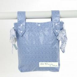 Bolsa Panera Floral Azul