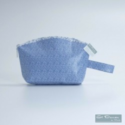 Neceser Curvo Floral Azul