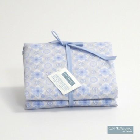 Cambiador Pañal Mosaico Azul
