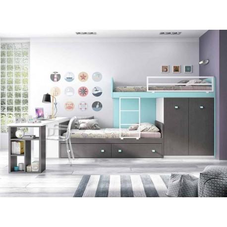Dormitorio Juvenil Litera F256