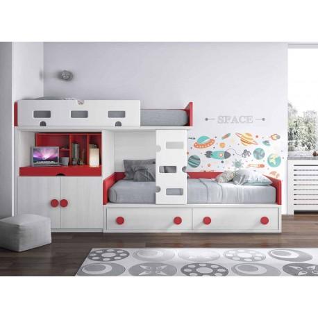 Dormitorio Juvenil Litera F257