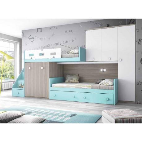 Dormitorio Juvenil Litera F258