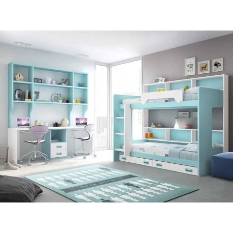 Dormitorio Juvenil Litera F261