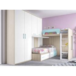 Dormitorio Juvenil Litera F263