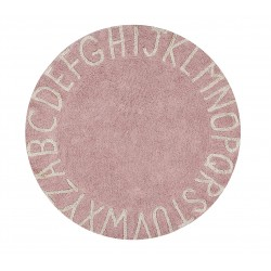 Alfombra Lavable Round ABC Vintage Nude Natural