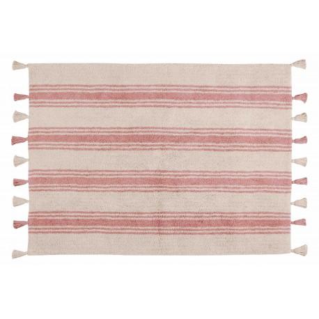 Alfombra Lavable Stripes Rosa Coral