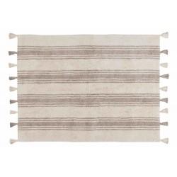 Alfombra Lavable Stripes Gris Glaciar