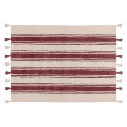 Alfombra Lavable Stripes Marsala