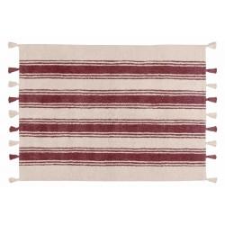 Alfombra Lavable Stripes Marsala