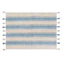 Alfombra Lavable Stripes Azul