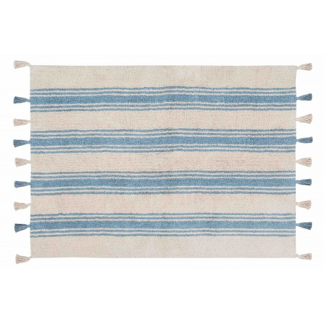 Alfombra Lavable Stripes Azul