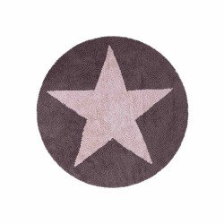 Estrella reversible Rosa - Gris Oscuro