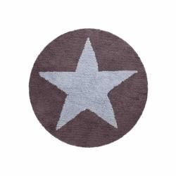 Alfombra Estrella reversible Azul - Gris Oscuro