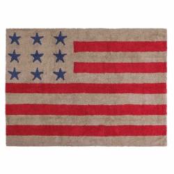 Alfombra Bandera Americana Lino - Rojo
