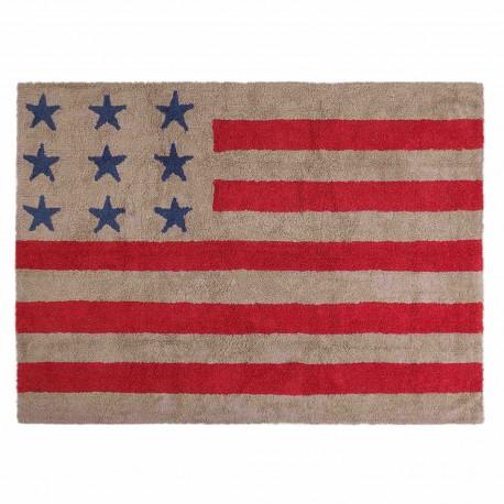 Bandera Americana Lino - Rojo