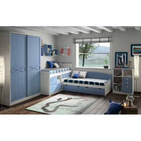 Dormitorio Juvenil Apilable