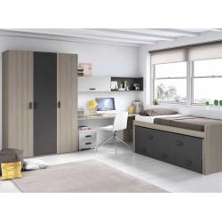 Dormitorio Juvenil Compacto L004