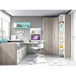 Dormitorio Juvenil Compacto L005