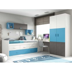 Dormitorio Juvenil Compacto L006