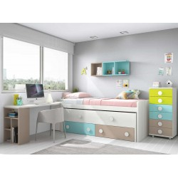 Dormitorio Juvenil Compacto L007