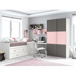 Dormitorio Juvenil Compacto L008