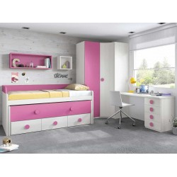 Dormitorio Juvenil Compacto L009