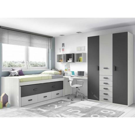 Dormitorio Juvenil Compacto L010