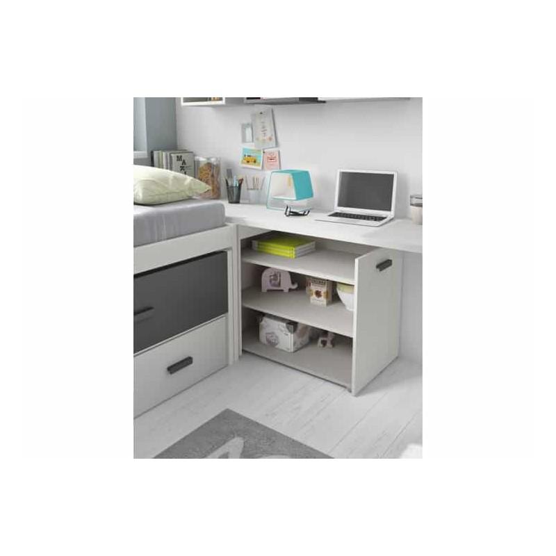 Dormitorio juvenil compacto l010 de glicerio chaves for Dormitorio juvenil compacto