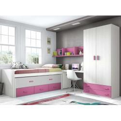 Dormitorio Juvenil Compacto L011