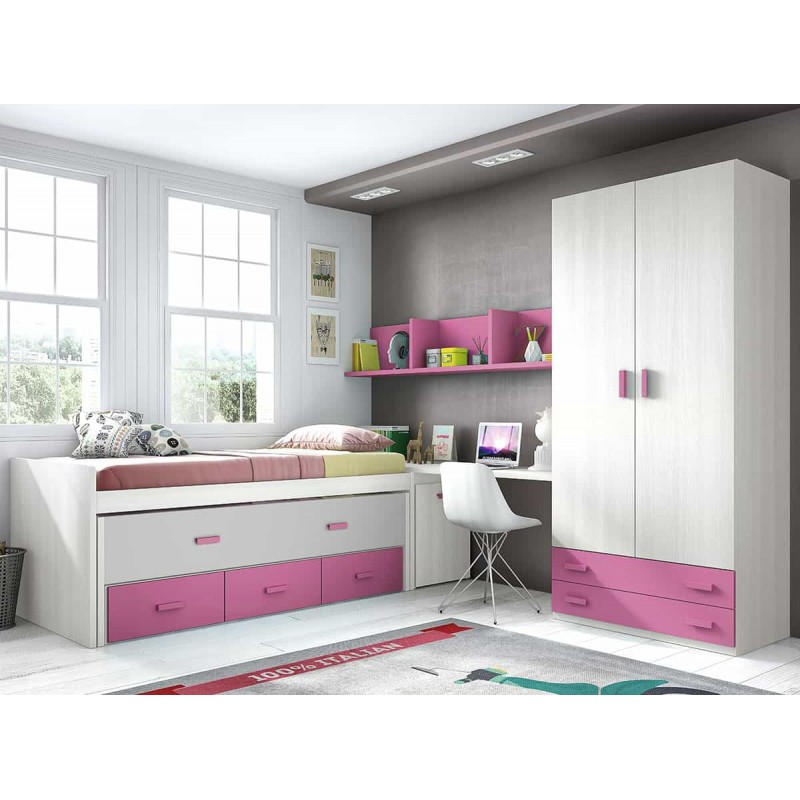 dormitorio juvenil compacto l011 de glicerio chaves