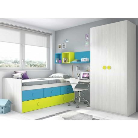 Dormitorio Juvenil Compacto L012