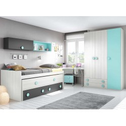 Dormitorio Juvenil Compacto L013
