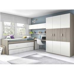 Dormitorio Juvenil Compacto L014