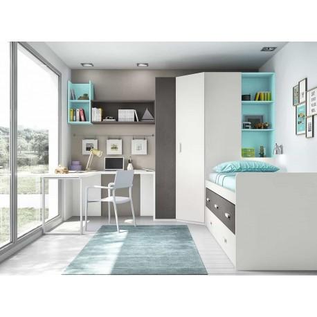Dormitorio Juvenil Compacto L017