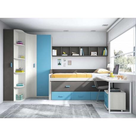 Dormitorio Juvenil Compacto L018