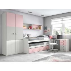 Dormitorio Juvenil Compacto L020