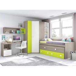 Dormitorio Juvenil Compacto L021