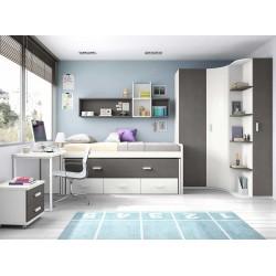 Dormitorio Juvenil Compacto L001