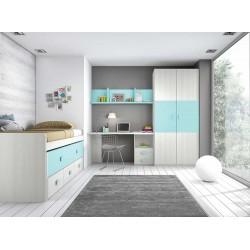 Dormitorio Juvenil Compacto L002