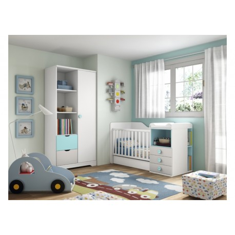 Dormitorio Infantil Convertible Smile 100