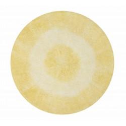 Alfombra Lavable Tie-Dye Amarillo