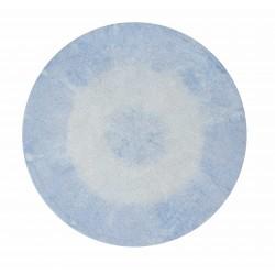 Alfombra Lavable Tie-Dye Azul Claro