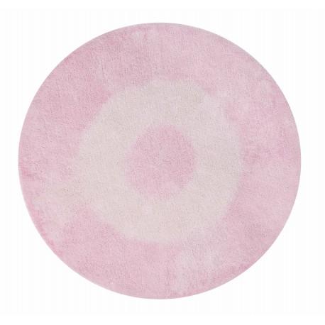 Alfombra Lavable Tie-Dye Rosa