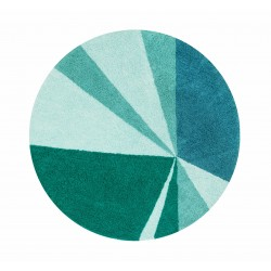 Alfombra Lavable Geometric Emerald